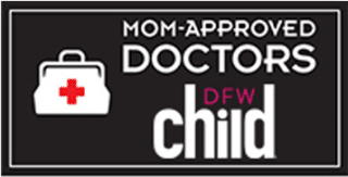 doctor approved by mom badge