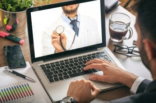 utilizing technology for a doctor visit known as telemedicine