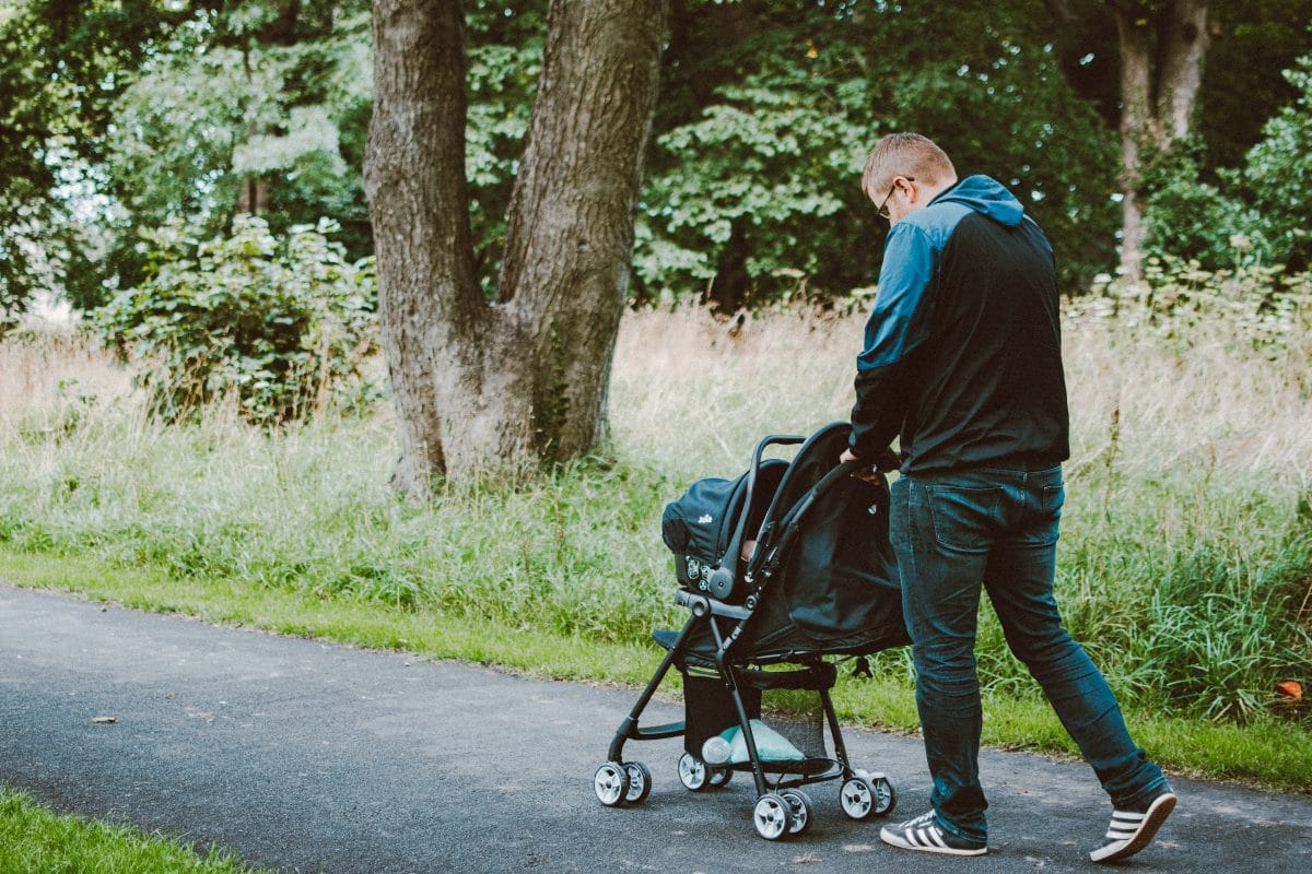 A nice walk in the fresh air can be a great way to calm a crying baby.